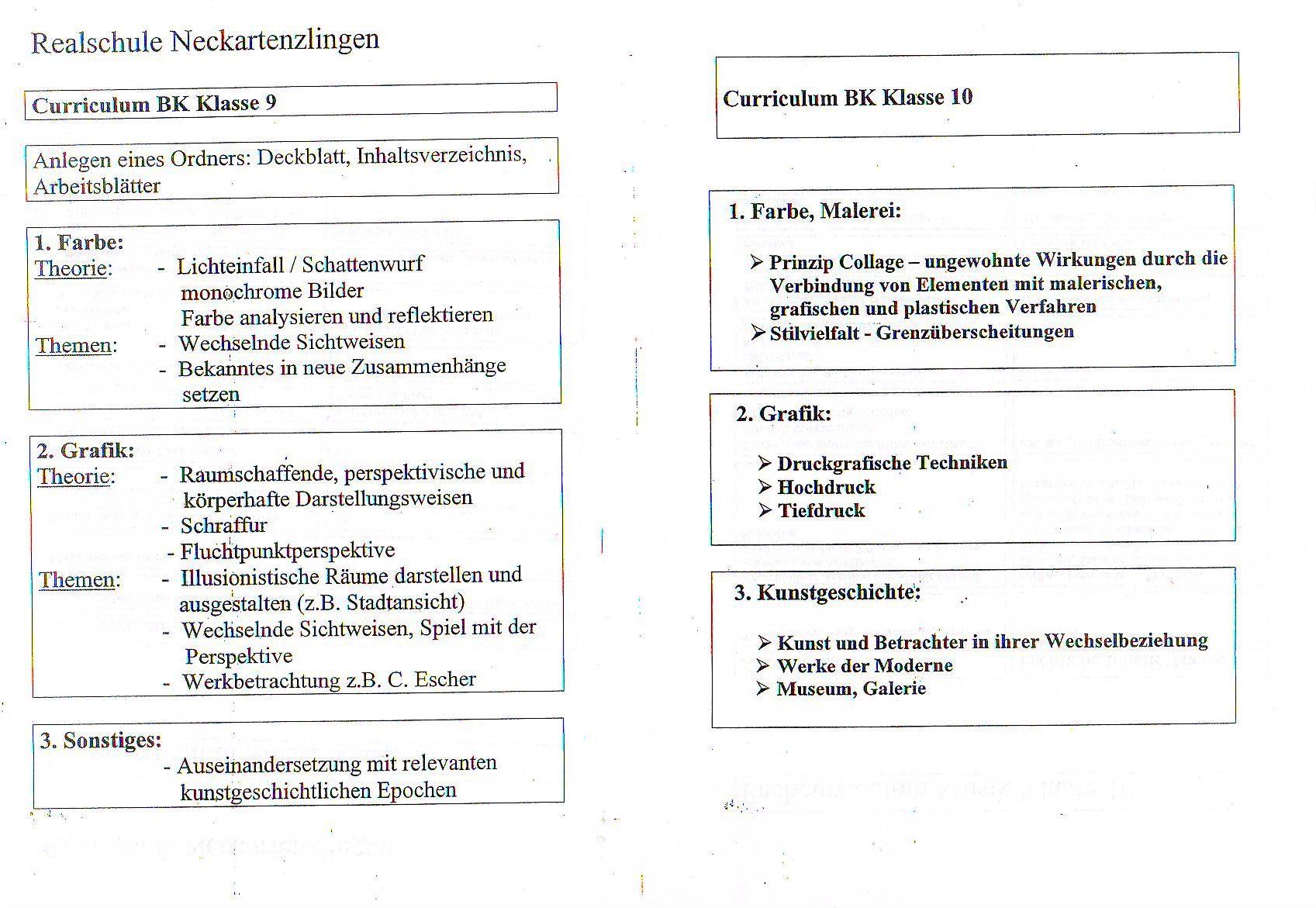 Wahlfach BK oder Musik - Realschule Neckartenzlingen
